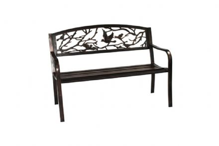 SupaGarden Bird Back Metal Bench
